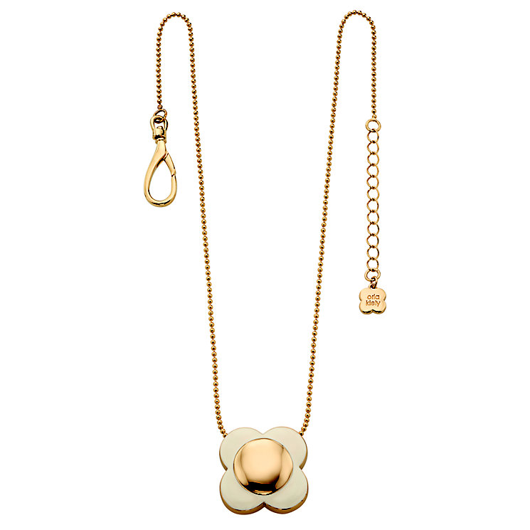 Orla Kiely Single Cream Flower Necklace - Product number 4918401