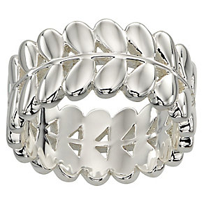 Orla Kiely Silver-Plated Leaf Ring Size O 1/2 - Product number 4919033