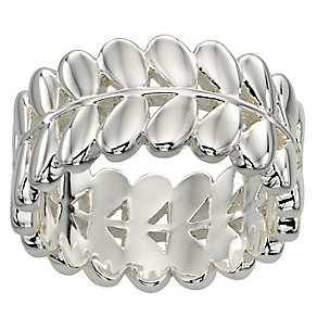 Orla Kiely Silver-Plated Leaf Ring Size R 1/2 - Product number 4919041