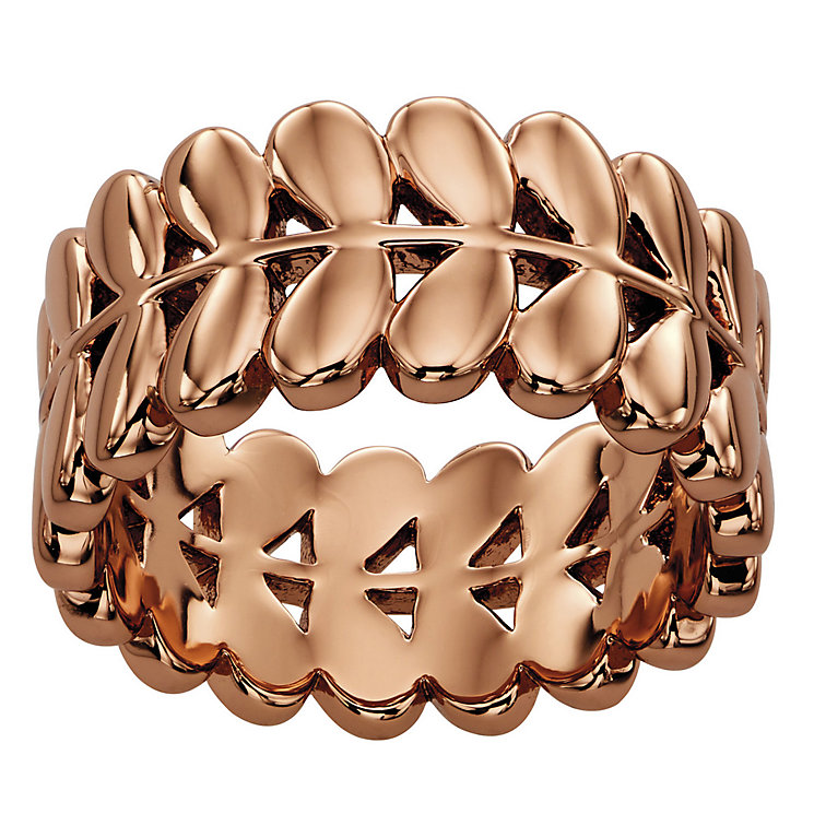 Orla Kiely Rose Gold-Plated Leaf Ring Size R 1/2 - Product number 4919084