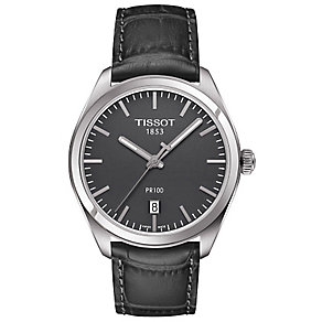 Tissot Men's Stainless Steel Black Strap Watch - Product number 4921453