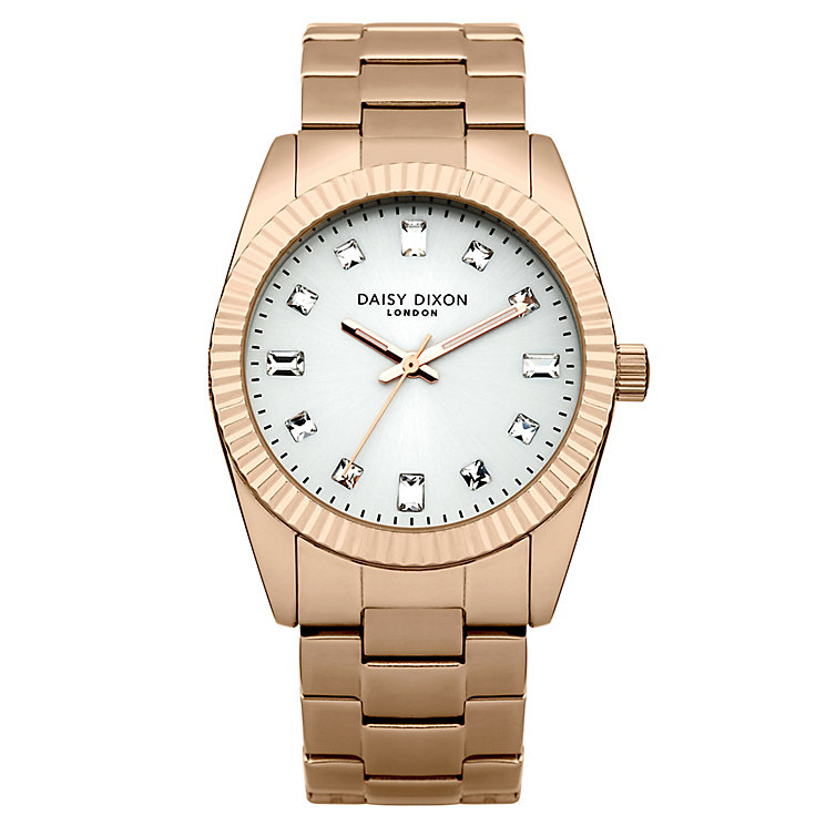 Daisy Dixon Edie Ladies' Rose Gold-Plated Bracelet Watch - Product number 4921518
