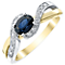 9ct Yellow Gold Sapphire and Diamond Ring - Product number 4921542