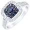 18ct White Gold Sapphire and 1/3ct Diamond Ring - Product number 4921895