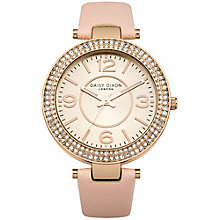 Daisy Dixon Lily Ladies' Nude Leather Strap Watch - Product number 4922948