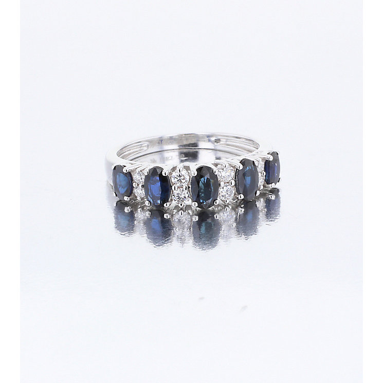 18ct White Gold Sapphire and Diamond Eternity Ring - Product number 4922956