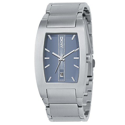 DKNY men's tank stainless steel watch