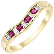 18ct Yellow Gold Ruby and Diamond Eternity Ring - Product number 4923871