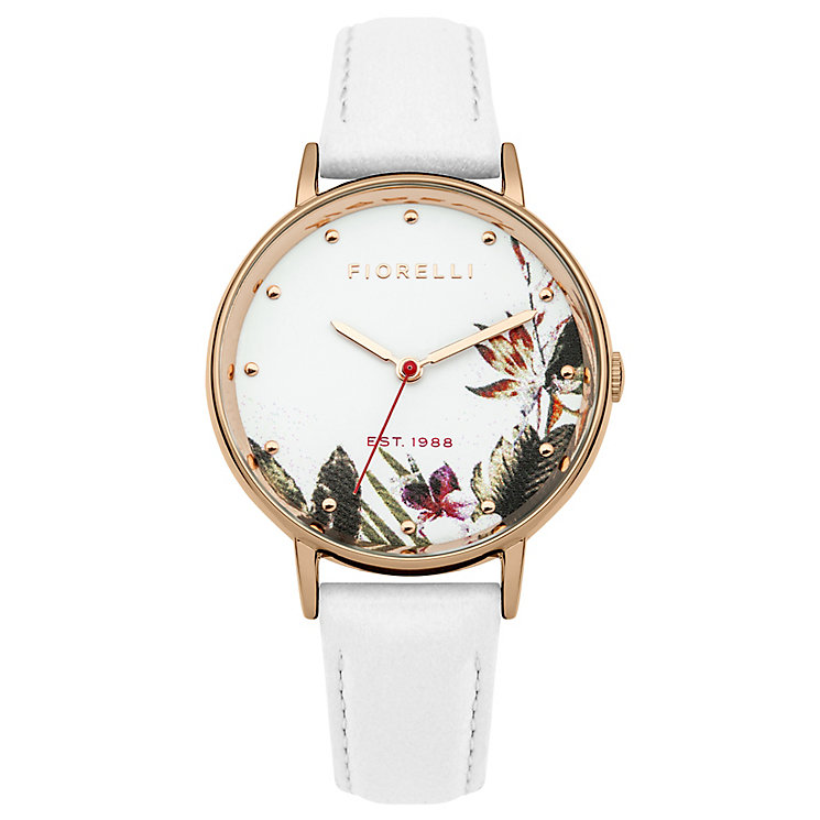 Fiorelli Ladies White Strap Watch - Product number 4924711