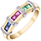 9ct Yellow Gold Ruby Sapphire Emerald Eternity Ring - Product number 4924738