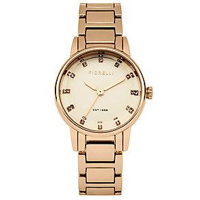Fiorelli Ladies Rose Gold Tone Bracelet Watch - Product number 4925696