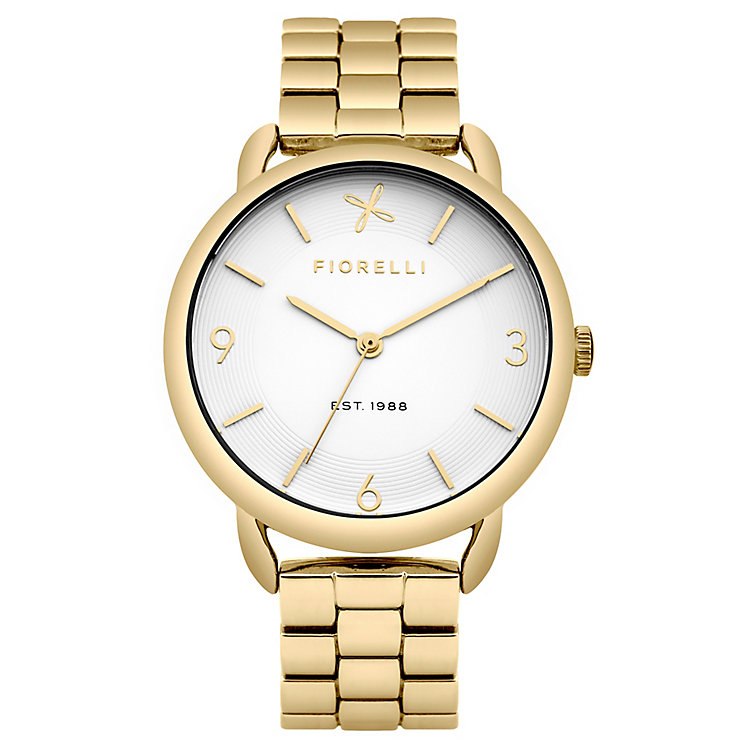 Fiorelli Ladies Gold Tone Bracelet Watch With White Dial - Product number 4925726