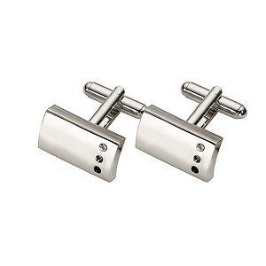 Graphite Three Crystal Cufflinks