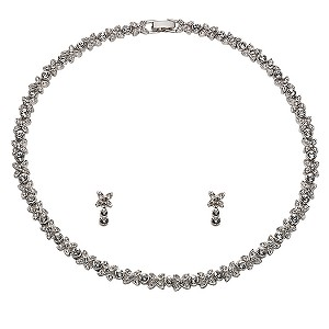 Oliver Weber Kiss Necklace and Earrings Set