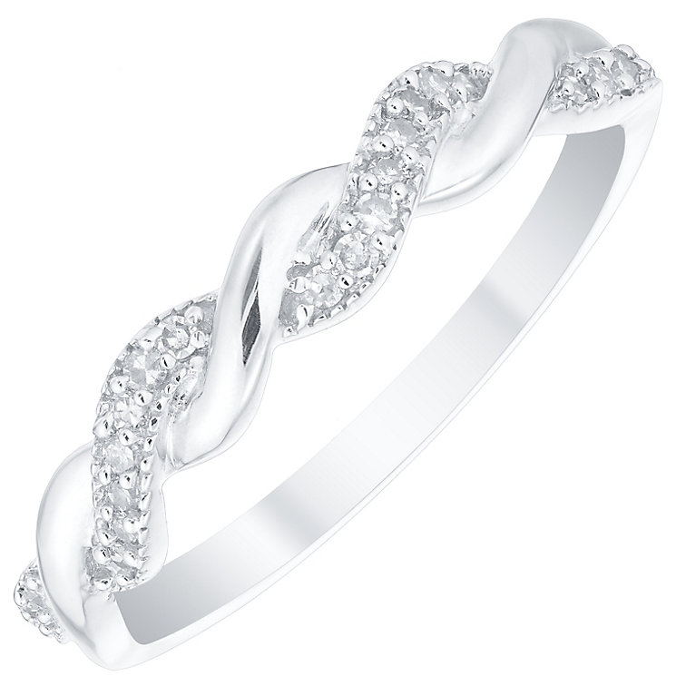 9ct White Gold 0.10ct Diamond Ring - Product number 4928105