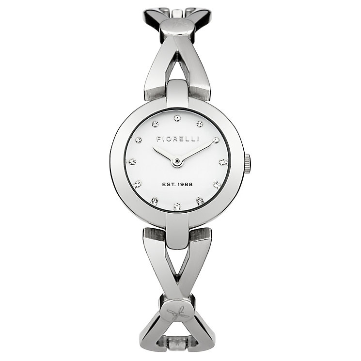 Fiorelli Ladies Silver Tone Bracelet Watch - Product number 4928237