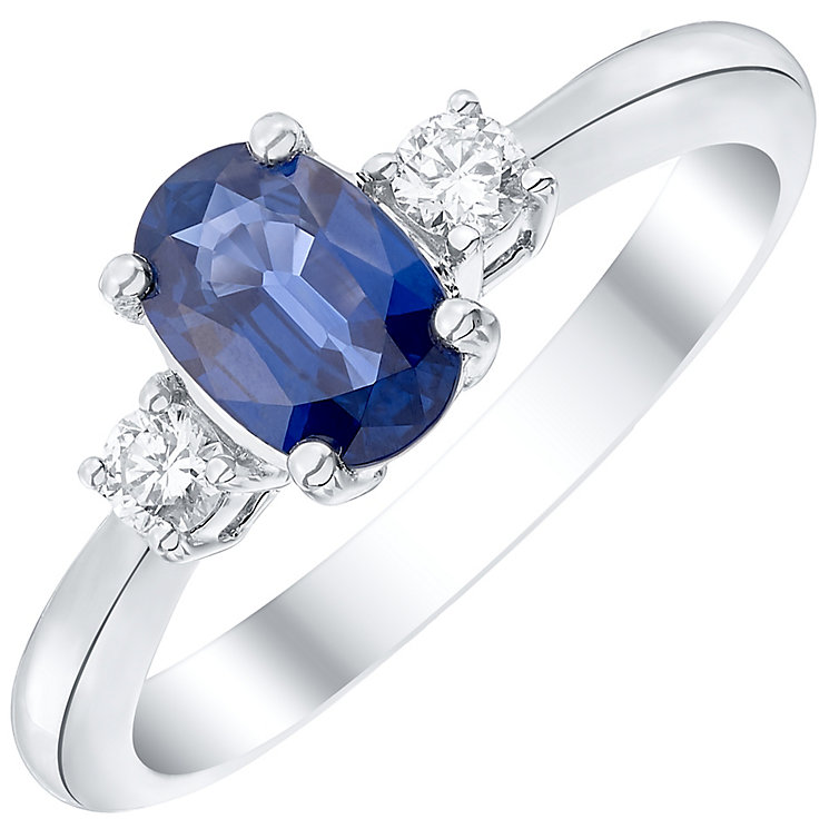 18ct White Gold certificated Sapphire and Diamond Ring - Product number 4928245