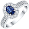 18ct White Gold certificated Sapphire and Diamond Ring - Product number 4928393