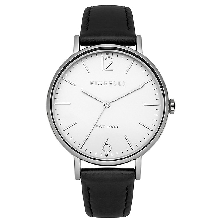 Fiorelli Ladies Black Leather Strap Watch - Product number 4928520