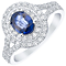 18ct White Gold certificated Sapphire and Diamond Ring - Product number 4928547