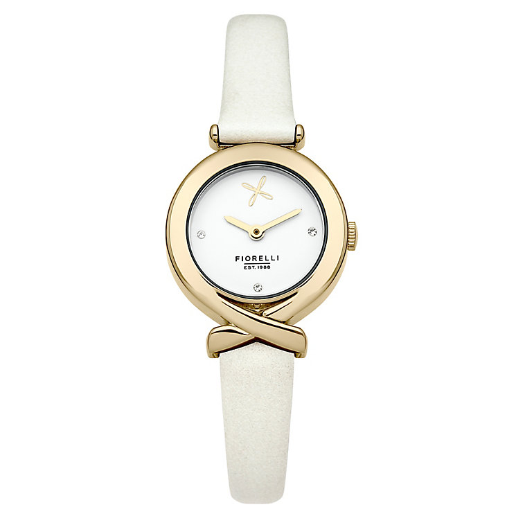 Fiorelli Ladies White Leather Strap Watch - Product number 4928741