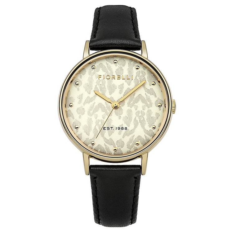 Fiorelli Ladies Black Leather Strap Watch - Product number 4928784