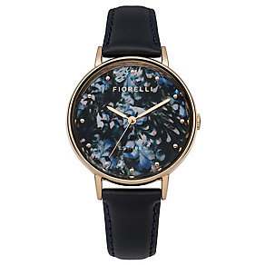 Fiorelli Ladies Blue Leather Strap Watch - Product number 4928792
