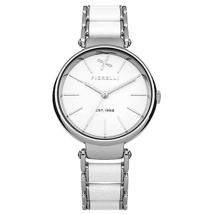 Fiorelli Ladies White/Silver Bracelet Watch - Product number 4928814