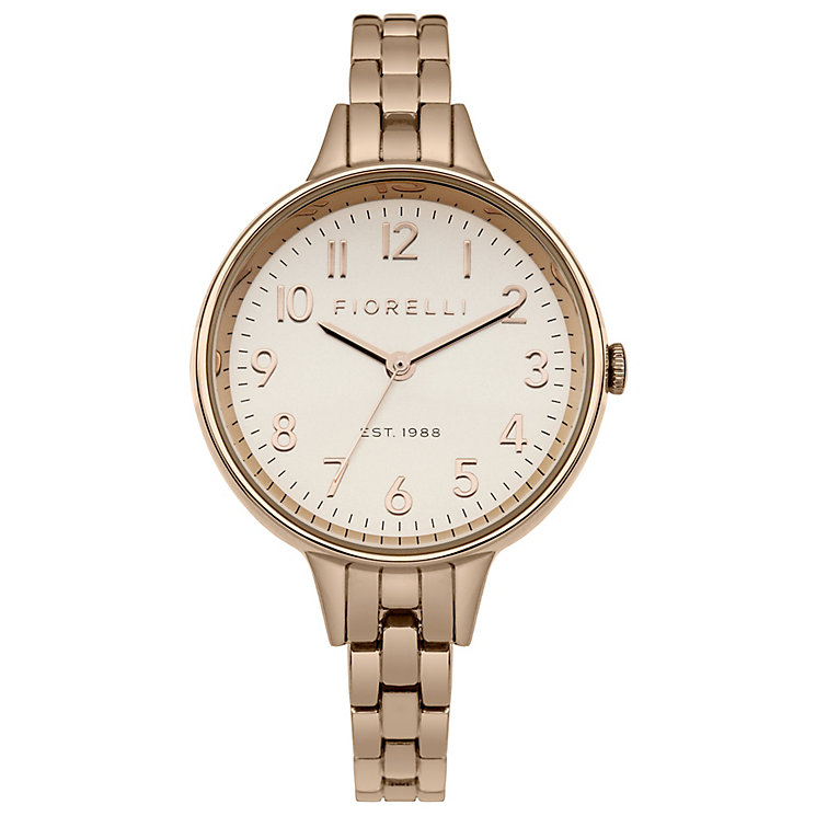 Fiorelli Ladies Rose Gold Tone Bracelet Watch - Product number 4928849