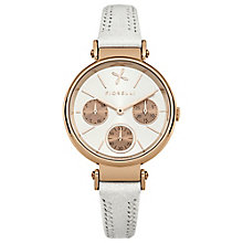 Fiorelli Ladies White Leather Strap Watch - Product number 4928865