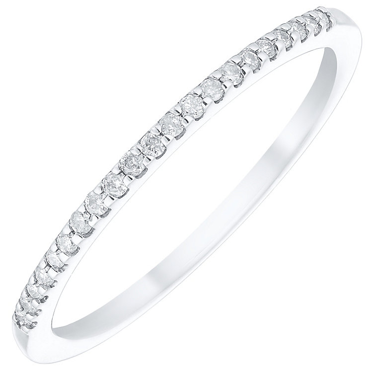 9ct White Gold Diamond Ring - Product number 4929039