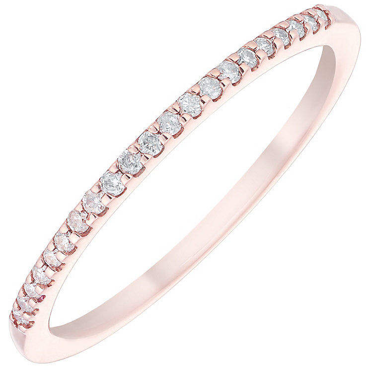 9ct Rose Gold Diamond Ring - Product number 4929179