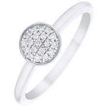 9ct White Gold Diamond Disc Ring - Product number 4929578