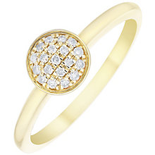 9ct Yellow Gold Diamond Disc Ring - Product number 4929691