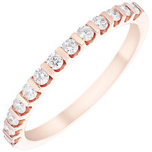 9ct Rose Gold 0.25ct Diamond Ring - Product number 4930223
