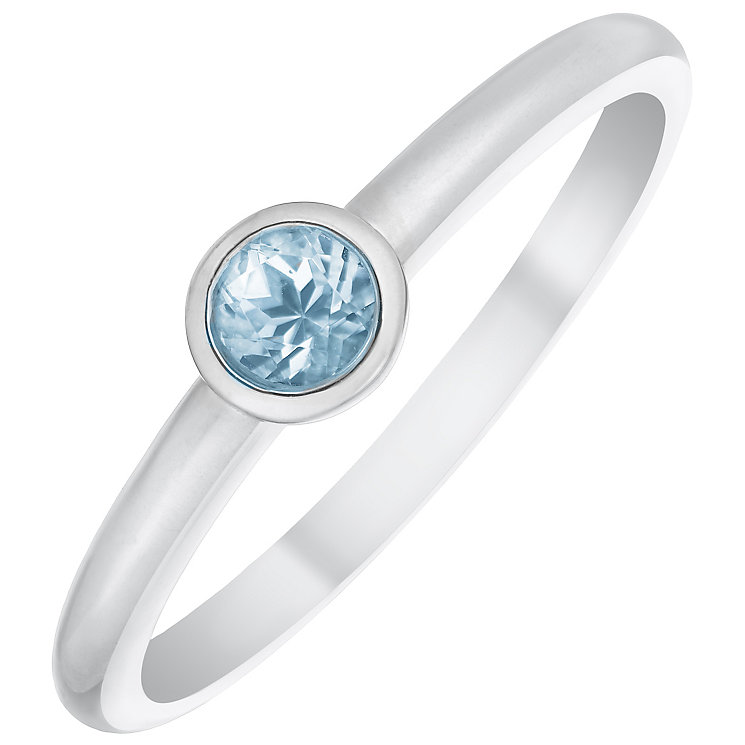 9ct White Gold Sky Blue Topaz Ring - Product number 4930495