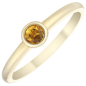 9ct Yellow Gold Citrine Ring - Product number 4930622