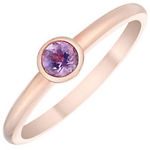 9ct Rose Gold Light Amethyst Ring - Product number 4930762