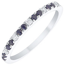 9ct White Gold Sapphire and Diamond Ring - Product number 4930894