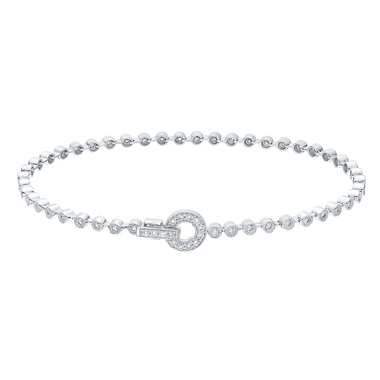 9ct White Gold 1ct Diamond Bracelet - Product number 4931270