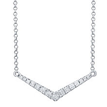 9ct White Gold 0.20ct Diamond Necklet - Product number 4931319