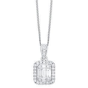 9ct White Gold 0.50ct Diamond Pendant - Product number 4931351