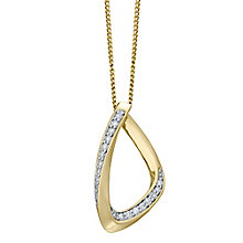 9ct Yellow Gold 0.10ct Diamond Pendant - Product number 4931475