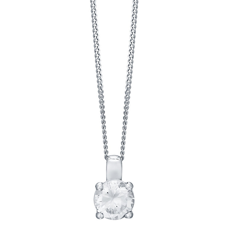 18ct White Gold 0.50ct Diamond Pendant - Product number 4931599
