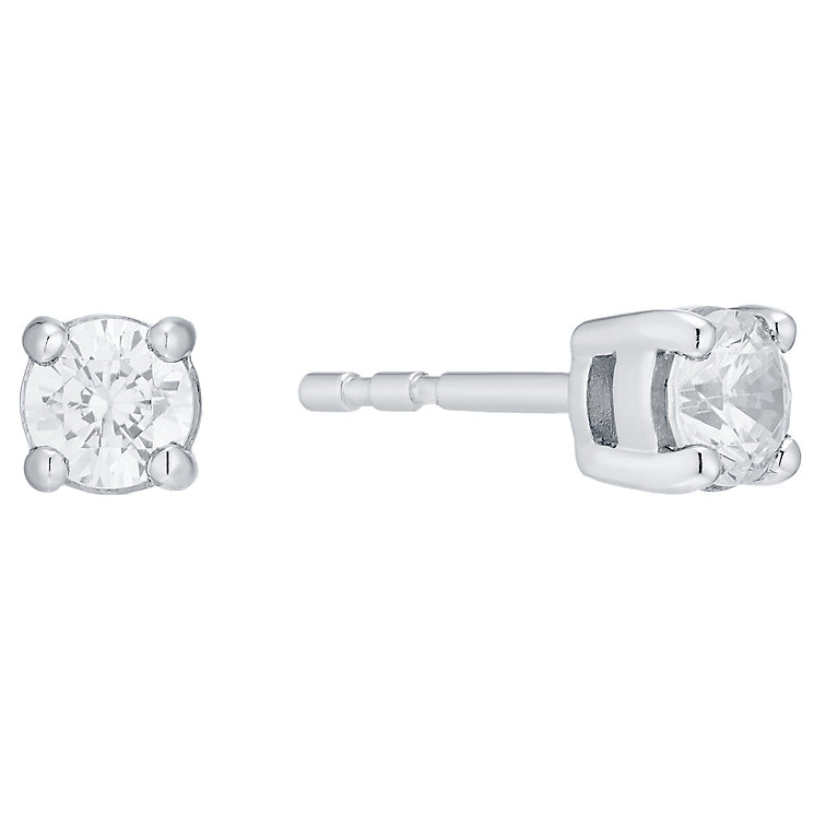 18ct White Gold 0.50ct Diamond Earrings H/I Si2 - Product number 4931645