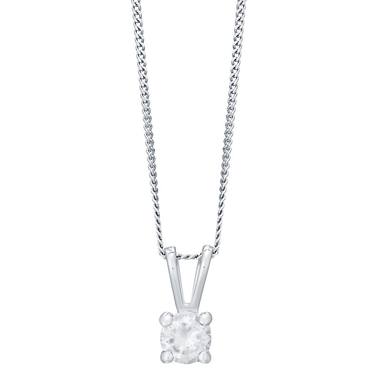 18ct White Gold 0.33ct Diamond Pendant H/I I1 - Product number 4931661