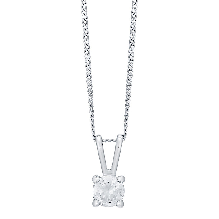 18ct White Gold 0.33ct Diamond Pendant H/I SI2 - Product number 4931688
