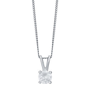 18ct White Gold 0.33ct Diamond Pendant F/G VS2 - Product number 4931696