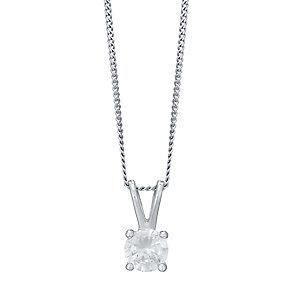 18ct White Gold 0.33ct Diamond Pendant F/G VS2 - Product number 4931696