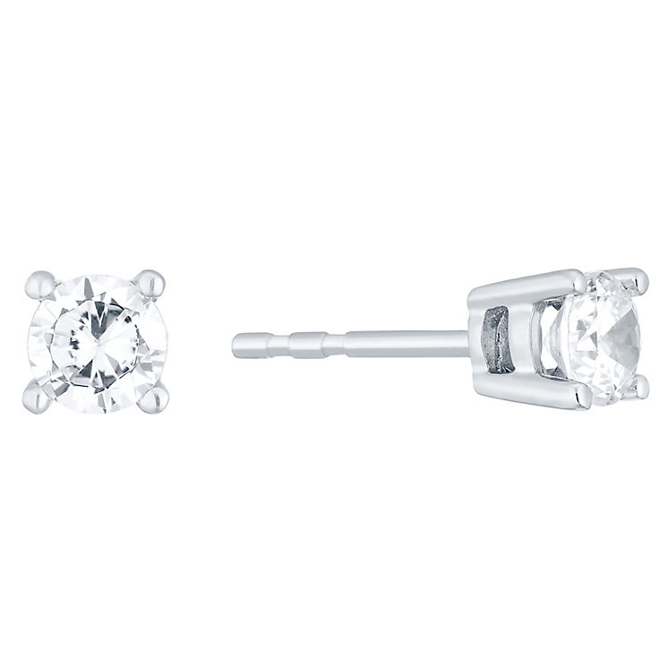 18ct White Gold 0.40ct H/I I1 Diamond Earrings - Product number 4931777